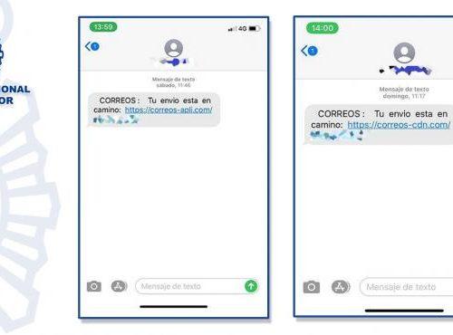 Campaña Malware SMS Correos